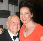With Mickey Rooney.
